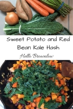 Sweet Potato and Red Bean Kale Hash