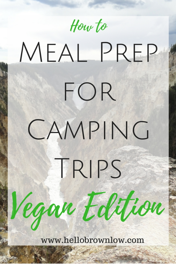 How to meal prep for camping trips vegan edition
