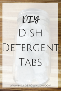 DIY Dish Detergent Tabs